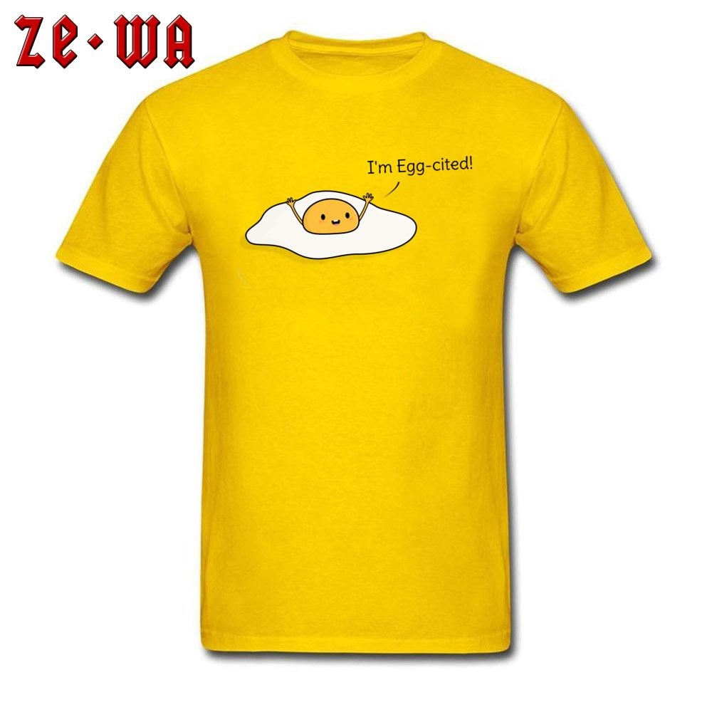 461cb440 Funny Summer Clothes Men T Shirt Excited Egg Printed Mens Tops T Shirts  Cotton Yellow Tees Party Tshirt Simple Clothes Awesome T Shirt Designs Tea  Shirts ...