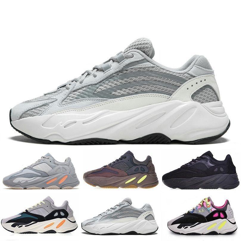 Adidas yeezy boost 700 2019 Kanye 700 Wave Runner Malva Inercia Geode zapatillas Hombres Mujeres West 700 diseñadores Zapatos para hombre Con Tamaño