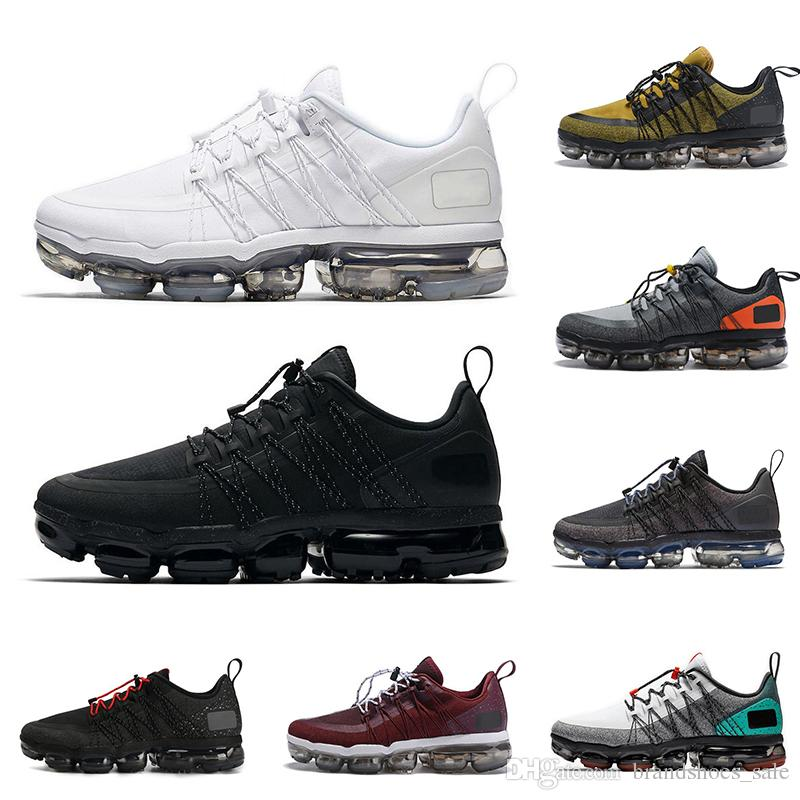 huge selection of 3b338 96d70 2019 Run UTILITY Men Running Shoes Triple Black White Medium Olive TROPICAL  TWIST Designer Mens Trainers Fashion Breathable Sports Sneakers Canada 2019  From ...