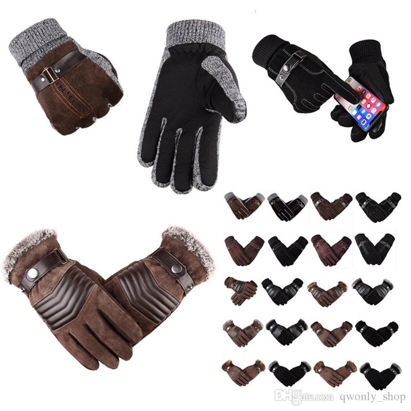 Mens Leather Fashion Driving Soft Large Weightlifting cycle Race Sports Gloves