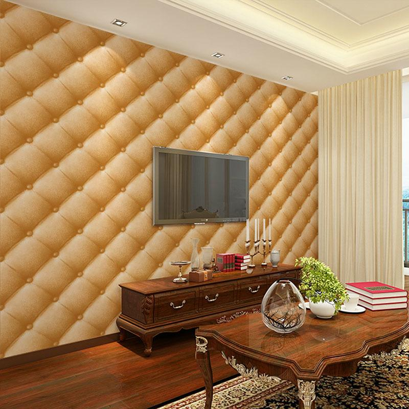 Leather Imitate Wall Paper 3d Wallpapers Purple Wallpaper For Living Room Tv Background Purple Wallpapers 3d Duvar Kagidi