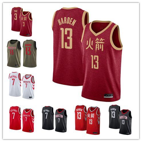 timeless design 345dc e91ac 2018-2019 Houston Men s Rockets jersey Swingman Basketball Jersey 13 James  Hardenss 3 Chris Paulss
