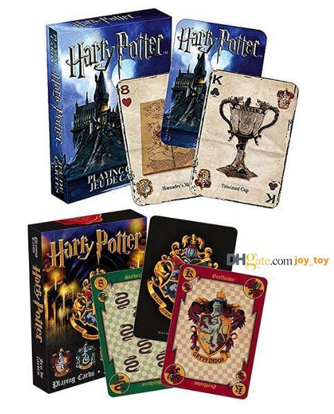 Harry Potter Playing Game Cards Hogwarts House Collection Badges Symbols Castle Crests Patterns English Magic Fun Toy
