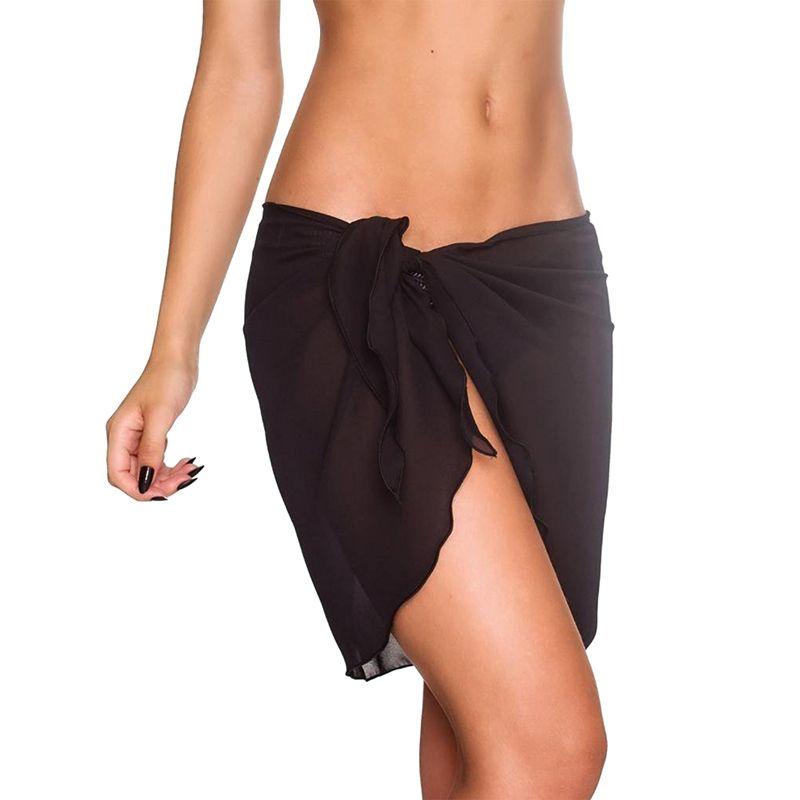 db9a1126dc8077 2019 Femmes jupe de plage sexy Robe de plage Sexy Beach Sarong Bikini  Cover-ups Wrap Paréo Jupes Serviette Open-Back Maillots De Bain Cover Up