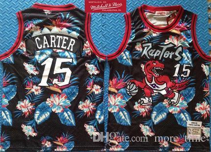 sale retailer d1b0e d2767 2019 Fashion Floral Black Swingman Jersey Retro Mens 15 Vince Carter  1998-99 Mitchell & Ness Authentic Basketball Jersey Dense Embroidery