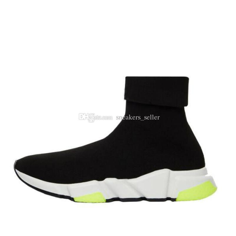 e432c7bef654 2019 Speed Trainer Luxury Brand Designer Shoes Black Yellow Grey Flat  Fashion Socks Boot Sneakers With Box Dust Bag Blue Shoes Clogs For Women  From Tiandun