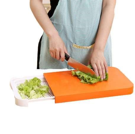 Tagliere da cucina Tagliere pieghevole da cucina 2 in 1 Tagliere pieghevole  da cucina creativo antiscivolo