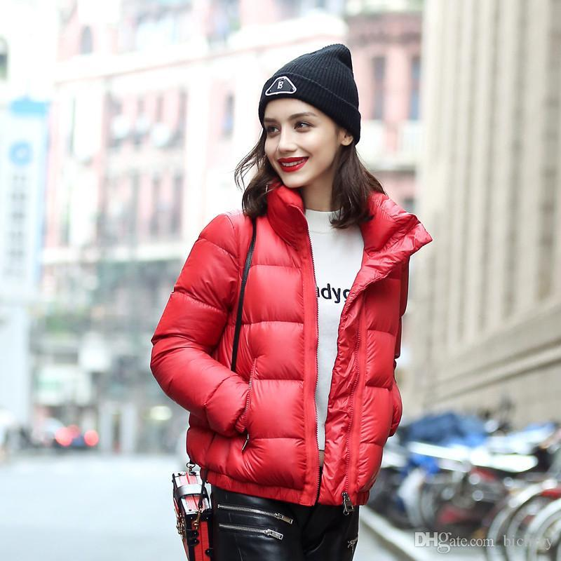 2017 fashion high quality Women down coat female short design slim outerwear autumn and winter thickening thin jackets plus size