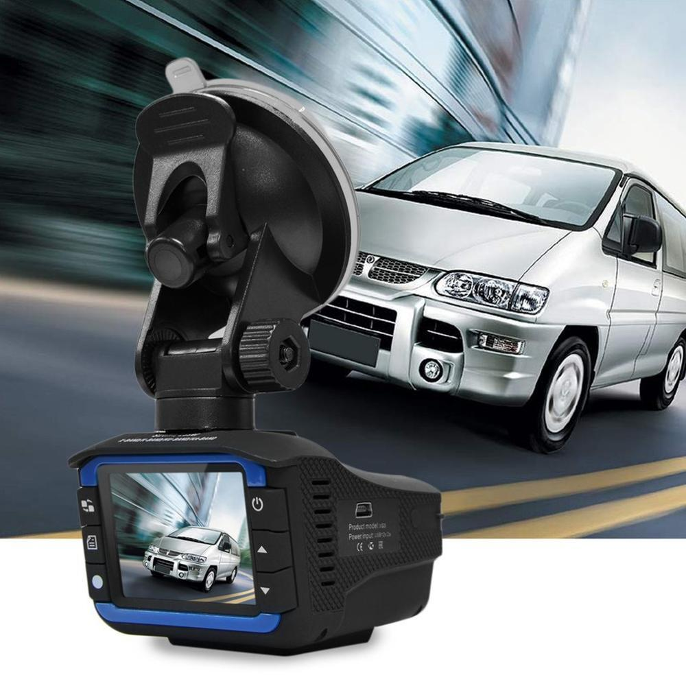 2-in-1(RD+DV) Car DVR Dash Cam Video Radar Speed Detector Night Vision Radar Detection 2 Inch HD LCD Display 720P Support 32G TF