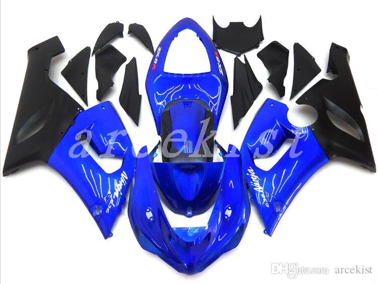 Complete New ABS Fairings Kits Fit For Kawasaki Ninja 636 ZX-6R ZX6R 05 06 2005 - 2006 ABS Plastic Fairing Bodywork blue black