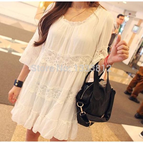 13271256a Vintage Mexico Floral Bordado de Encaje Blanco Vestido Casual Boho Mini  Vestidos de Mujer Ropa de Verano Vestido de Las Mujeres Tops de Las  Mujeres, ...