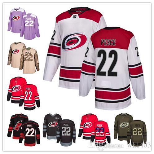 huge selection of 67105 480e4 Carolina Hurricanes jerseys #22 Brett Pesce Jersey hockey men women youth  Authentic Black Alternate red home white away Stiched Jerseys