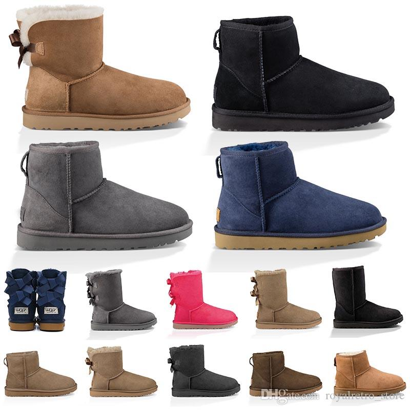 Hot Sale WGG Women's Australia Classic tall Boots Women girl Snow Winter designer ankle knee boots fuchsia black blue red leather shoes