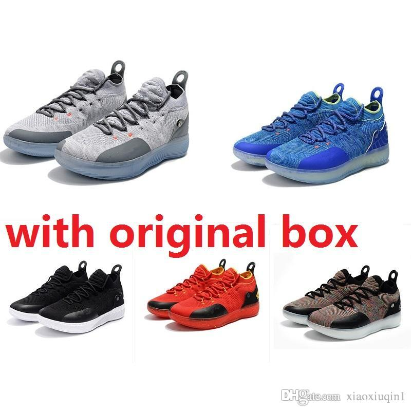 f3af60515700 2019 Cheap New Women KD 11 Shoes Basketball For Sale MVP BHM Mens Kevin  Durant Xi Low Kids Boys Boots Sneakers With Original Box From Xiaoxiuqin1