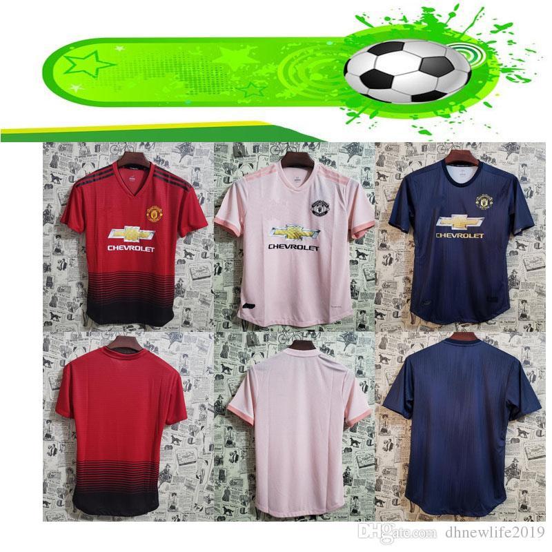 8e0ea4f3a35 2019 Player Version Man Utd Soccer Jerseys POGBA LUKAKU ALEXIS MARTIAL  LINGARD RASHFORD Custom 2018 2019 Home Away United Third Football Shirt  From ...