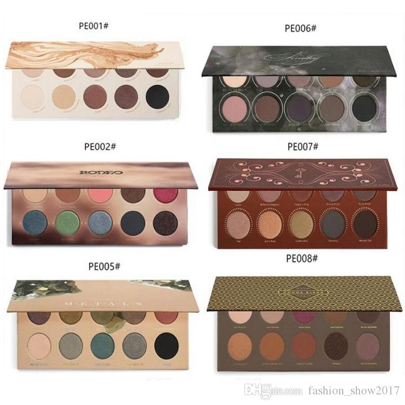 Makeup Eyeshadow Palette ZO Mixed Metals Smoky Caramel Cocoa Blend Rose Golden Glitter Matte Nake Eye Shadow Palettes