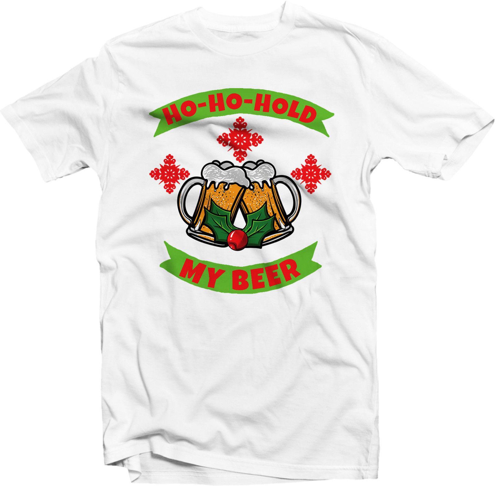 Ho Ho Ho Frohe Weihnachten.Frohe Weihnachten Ho Ho Halten Lustiges Geschenkgeschenk Spitzengrosse Discout Des Lustigen T Shirts Des Bieres Heisse Heisse Neue T Shirtoberseite