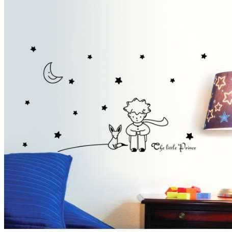 libro popolare fiaba il piccolo principe con Fox Moon Star home decor wall  sticker per camere per bambini bambino bambino regalo di compleanno