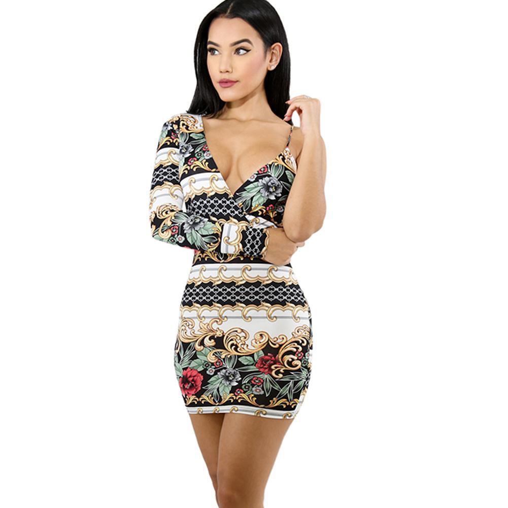 68c250b2b8f9d Satın Al Seksi Vintage Çiçekli Baskı Kalem Elbise Kadın Bir Omuz Bodycon Elbise  Çiçek Parti Akşam Mini Slim Fit Kulübü Elbiseler Clubwear, $33.75 | DHgate.