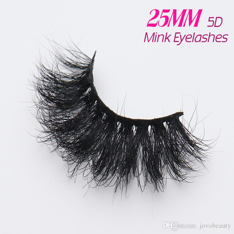 172f3f937b3 JOVOBEAUTY Wholesale Siberian 25MM 3D 5D Mink Long Fluffy Eyelash ...