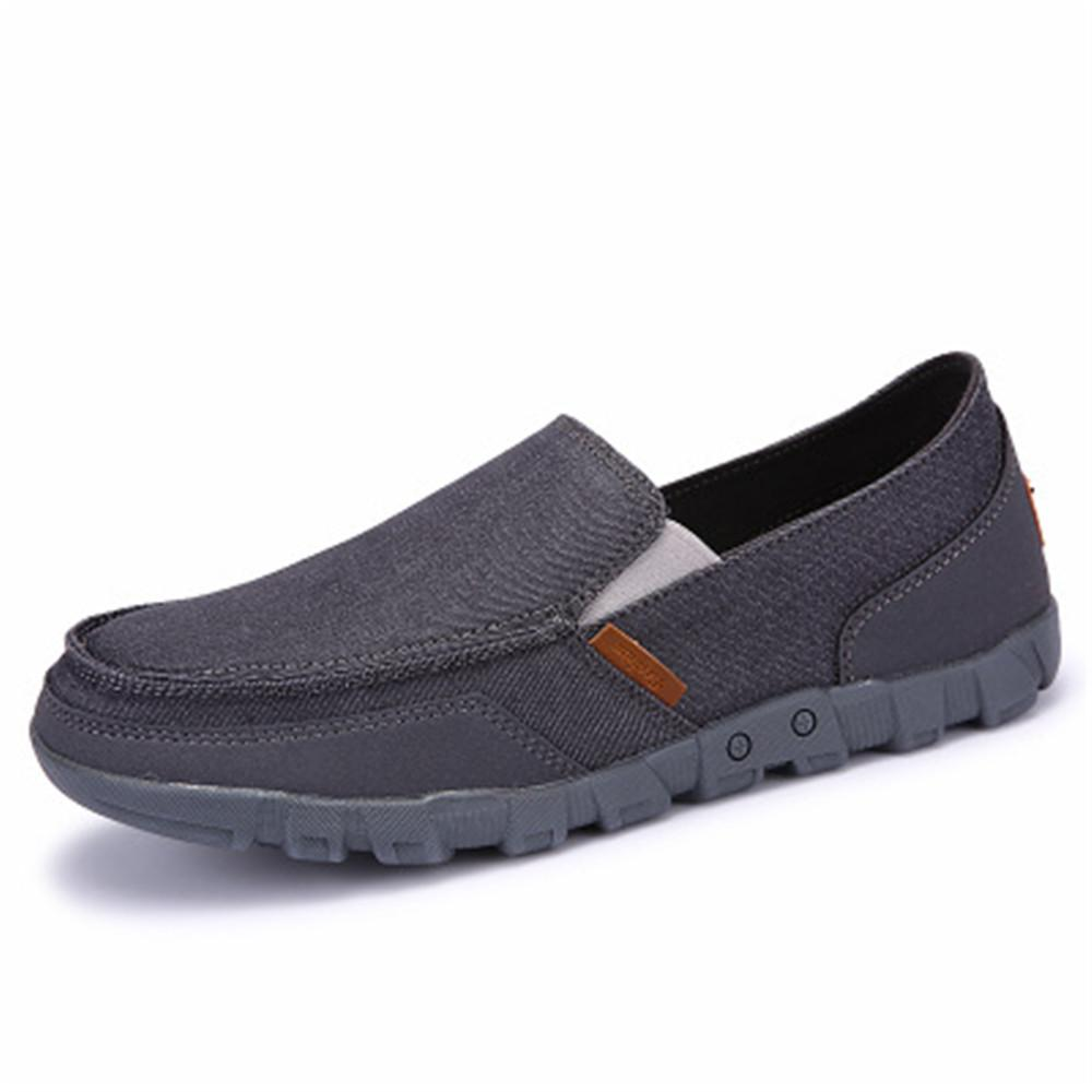 Scarpe casual da uomo in tessuto Slip-On Outdoor Leisure Driving Shoes Scarpe da ginnastica uomo Casual Canvas Traspirante Estate anti-odore Chaussure