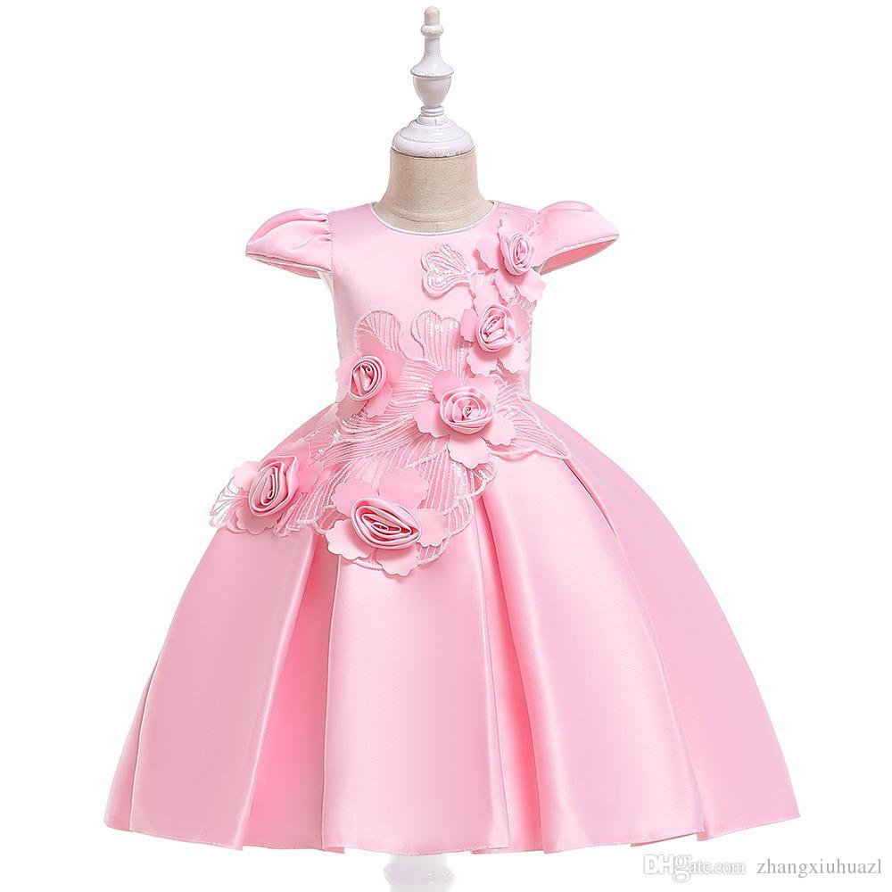 716a9406e Compre Baby Girls Party Dress 2019 Elegante Vestido De Noche Para Niñas  Vestidos De Cumpleaños Para Niños De 2 A 8 Años Ropa Para Niñas A $21.09  Del ...
