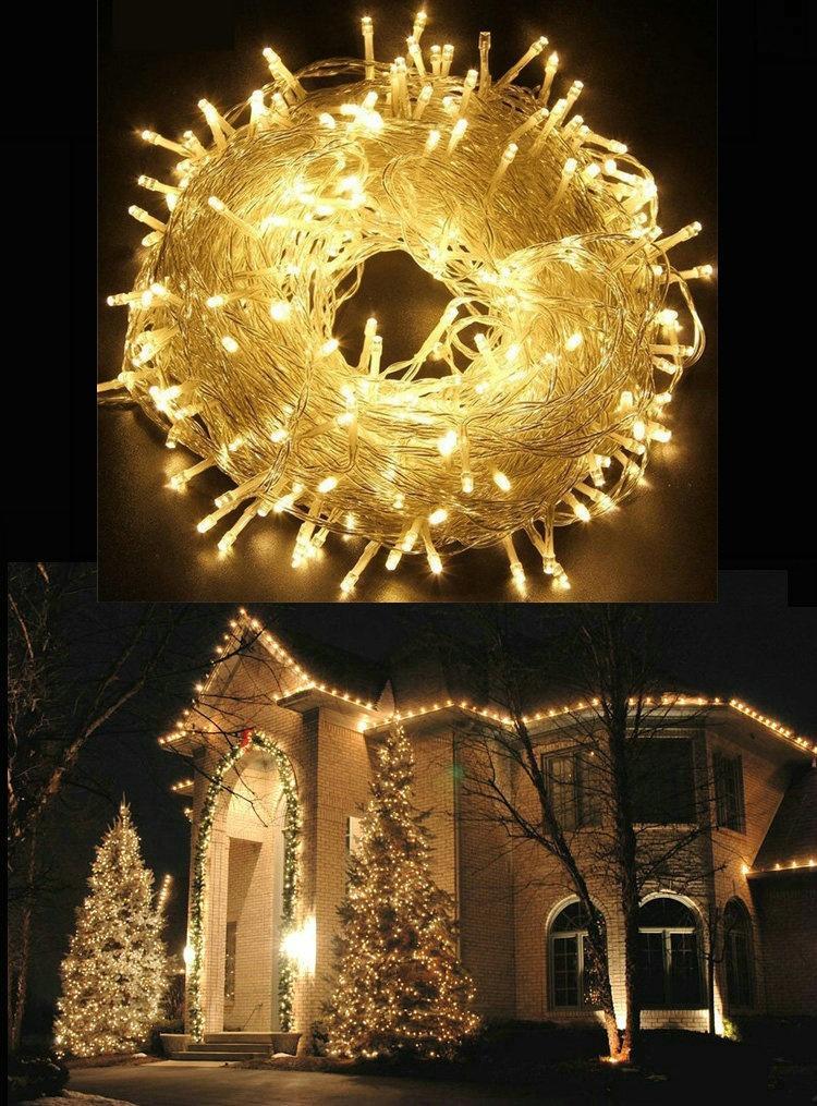 Led Lichterkette Weihnachten.Lichterkette Led Lichterkette Party Weihnachten Für Dekorationen Hochzeit Im Freien Verbindbar 110v 220v 10m