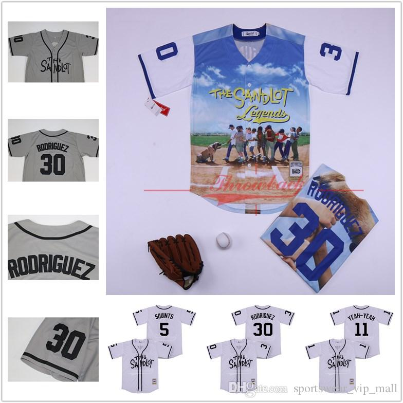 fc8a94353 2019 The Sandlot Benny Rodriguez 30 Jersey Michael  Squints  Palledorous 5  Alan  Yeah Yeah  McClennan 11 Movie Baseball Jerseys From  Sportswear vip mall