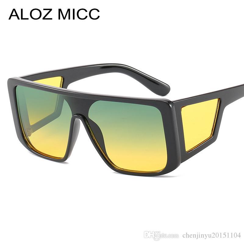 Acheter ALOZ MICC Femmes Lunettes De Soleil Carrées Surdimensionnées Hommes  2019 Marque De Luxe Design Hommes Lunettes De Soleil Vintage Shades Lunettes  ... 4d10877eab16