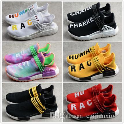 21354706a19d Großhandel NMD Menschliche Rasse Billig Großhandel Online Pharrell Williams  X NMD Sport Laufschuhe Rabatt Günstige Athletic Mens Shoes WithBox Von ...