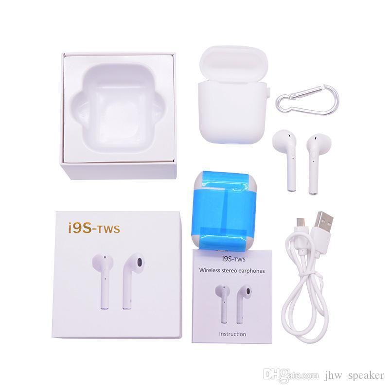Mini I9S PK I7S TWS Bluetooth True Twins Wireless Earbuds Earphone With  Small Size Charging Box Headset For IOS iPhone 6 7 8 X Android