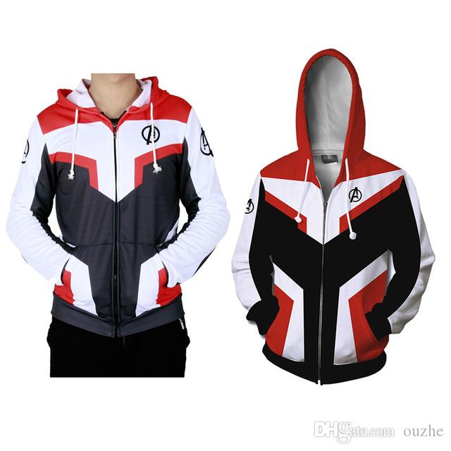 f305b4682c7 Avengers Endgame Quantum Realm Hooded Hoodies Sweatshirt Jacket T Shirt  Pants Advanced Tech Embroidery Cosplay Costumes Santa Costume Princess  Costumes From ...