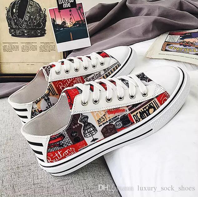Wholesale men women casual shoes fashion flat shoes Red White Black Orange Designer mens womens shoes