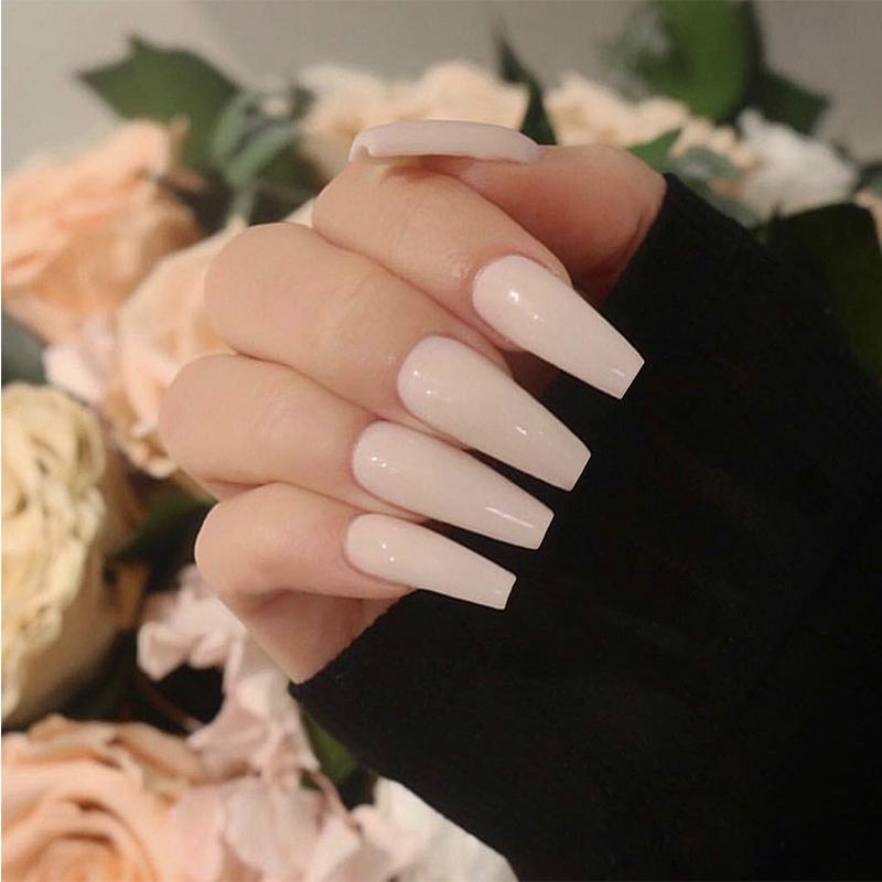Health & Beauty Smart Fake Long Diy Coffin Shape Nail Art Tips False Cover False Ballerina Nails Making Things Convenient For Customers