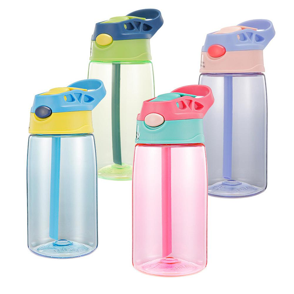 New Outdoor Cup Cartoon Water Bottles Straw Bottle Children Kettle Portable Sports Bottle Water Sippy Suction Cup