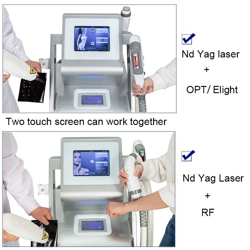 ND YAG LASER détatouage IPL OPT SHR élimination rapide veines Épilation EKIGHT Rajeunissement de la peau RF équipement Ipl