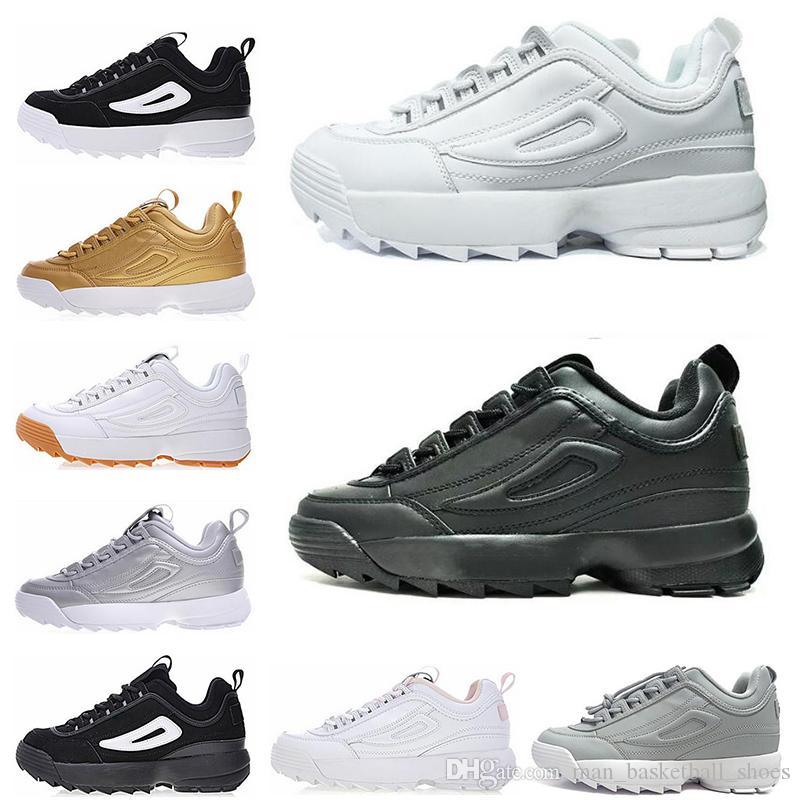on sale 5a9e0 3034a Compre Disruptor 2 II Classic Disruptors II 2 Silver Triple Blanco Negro  Gris Dorado Zapatillas Deportivas Para Mujer Sección Especial Para Deportes  ...