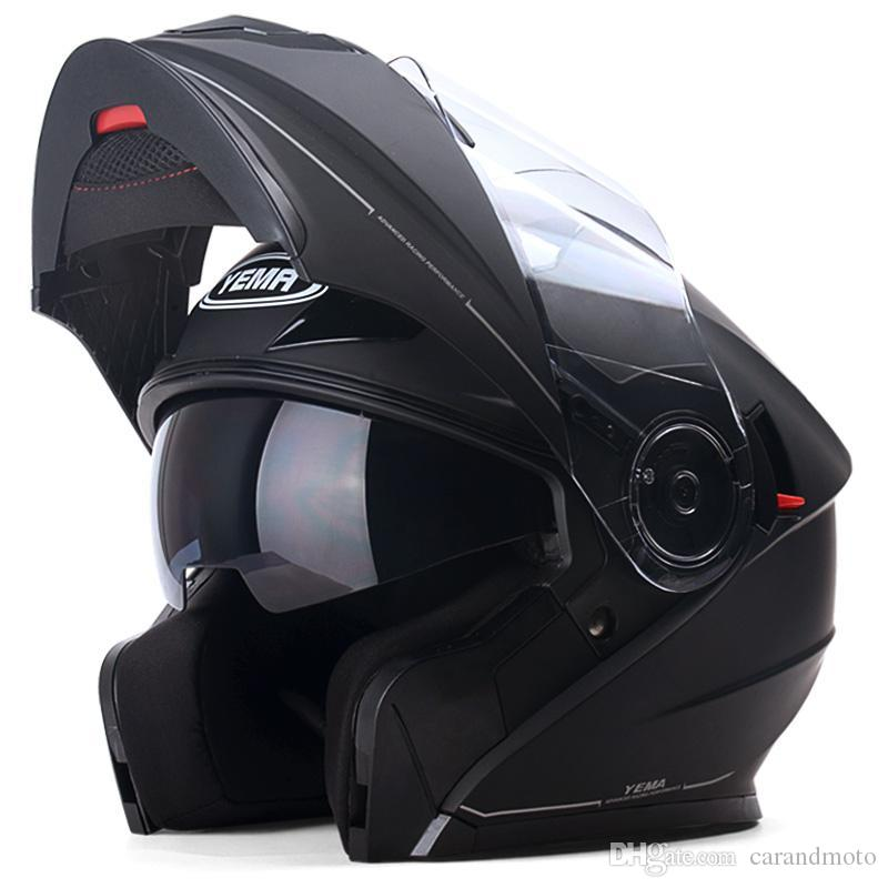 Genuine YEMA927 Flip Up Racing Motorcycle Helmet Motorbike Double Visor Lens Men Warm Winter Summer Motor Bike Scooter Helmets