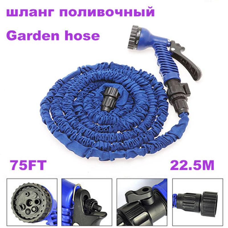 75FT Garden hose watering & irrigation water pipes with spray gun expandable water hose Garden hoses&reels EU/US type