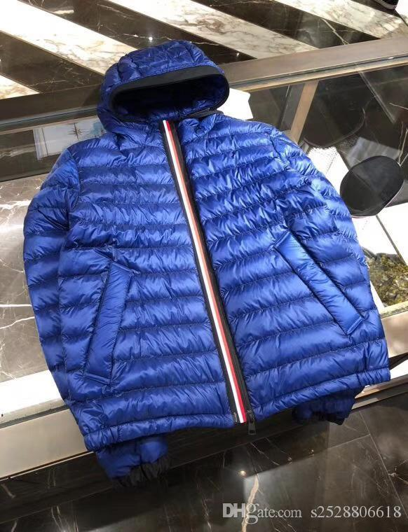 Man Winter Coat Casual Thin Down Jacket Real Duck Down Inside Hooded Hommes Manteau Very Good Best Quality 785