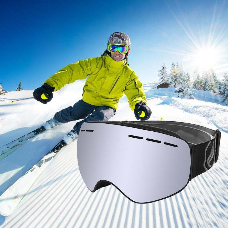 Anti-fog UV Ski Goggles Winter Snow Sports Snowboard Goggles with  Protection Unisex Youth Snowmobile Skiing Skating Cycling mask