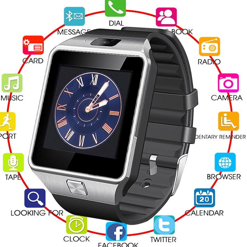 2019 TOP Bluetooth Smart Watches DZ09 Smartwatch For Android Apple Phone Clock Support Facebook Whatsapp SD SIM With Camera