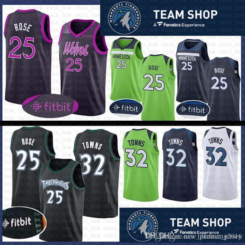 d0d04a60107 2019 25 Derrick # Rose Stitched Minnesota Jersey Timberwolves 32 Karl  Anthony # Towns Basketball Jerseys The CiTY Retro From Tukameng2016, $31.31  | DHgate.