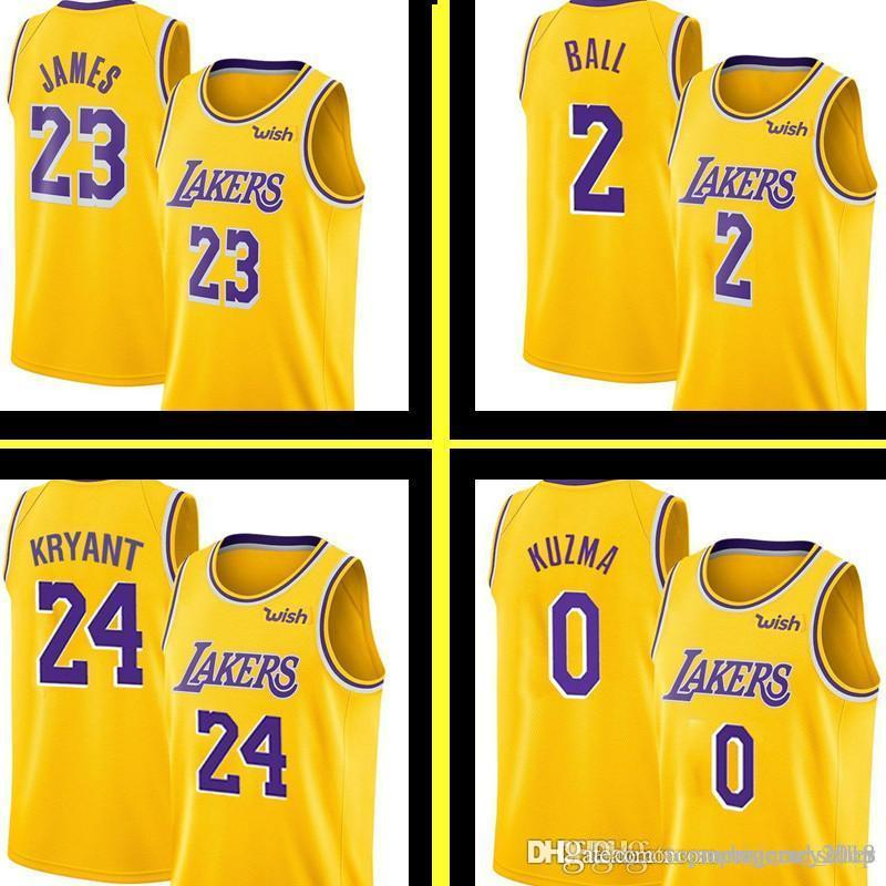 d12ad7d905d 2019 New Yellow 23 LeBron James Los Angeles Laker Jersey Mens Lonzo 2 Ball  Kyle 0 Kuzma Embroidery 14 Ingram Basketball Jerseys S XXL From  Topmensjersey2018 ...