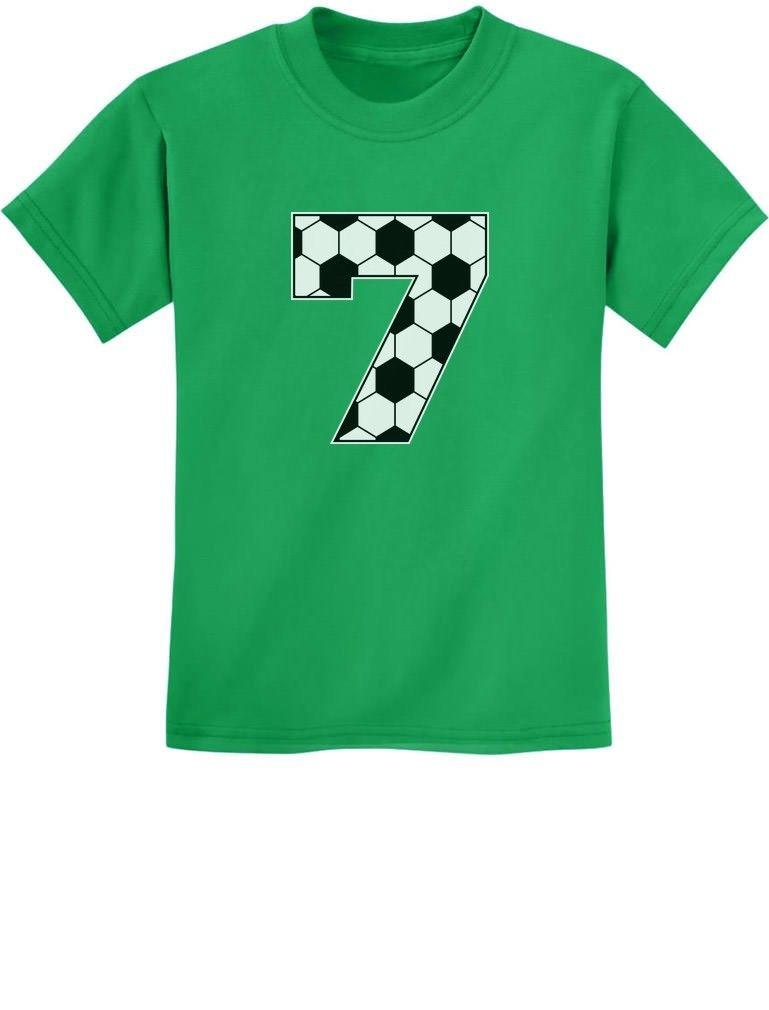 Soccer Fan 7th Birthday Gift For 7 Year Old Youth Kids T Shirt Seventh BirthdayFunny Unisex Casual Top Shirts Buy From Dragontee 1028