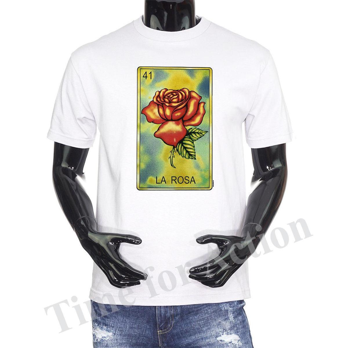 6d3f31fc Loteria Card La Rosa Mexican Card Game Graphic T Shirt Fashion Mens Short  Sleeve Cheap Sale O Neck T Shirt One Day Only T Shirts Limited T Shirts 24  Hours ...