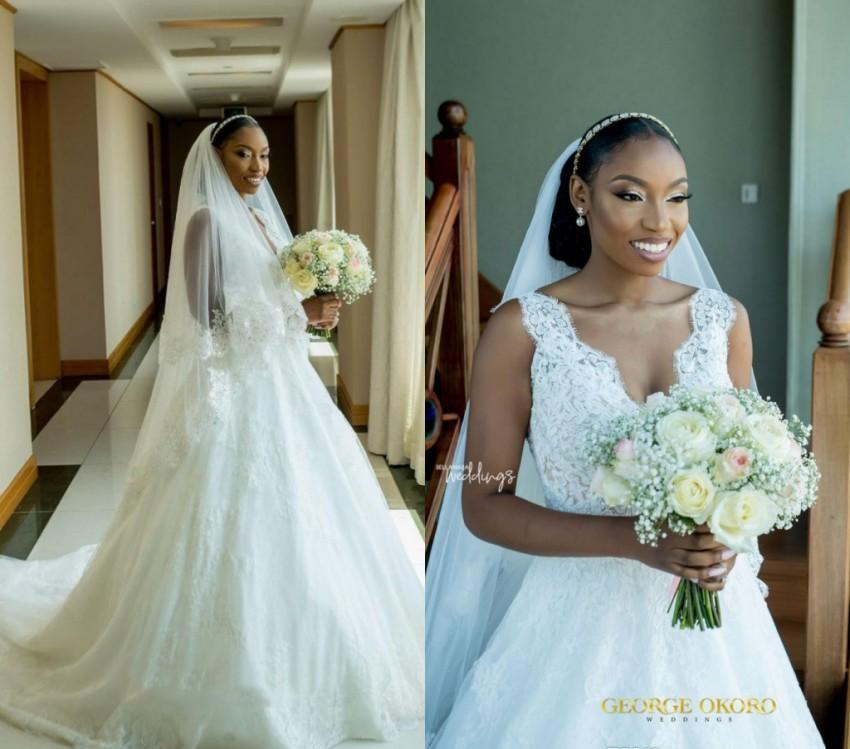 d48a988efe Cheap South African Wedding Dress High Quality A Line V Neck Lace Tulle  Country Garden Church Formal Bridal Gown Custom Made Plus Size