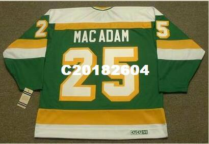 Men #25 AL MACADAM Minnesota North Stars 1979 CCM Vintage RETRO Home Hockey Jersey or custom any name or number retro Jersey