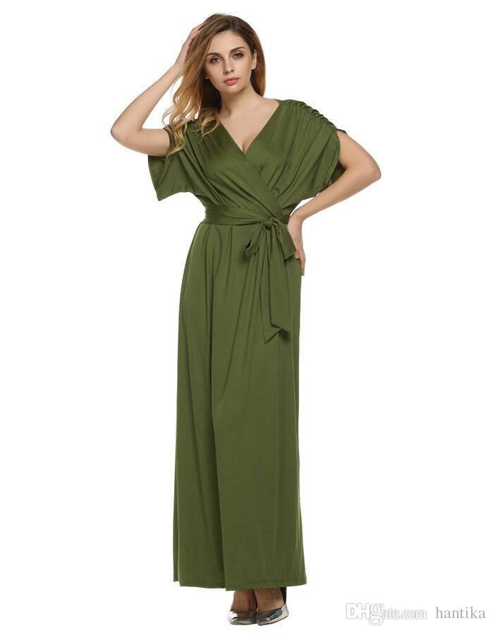 b0dc366cef Plus Size Dresses Designer Woman Short Sleeve Wrap Dress For Fat Woman Lady  L XL 2XL 3XL 4XL Long Maxi Dresses Womens Floral Dress Strapless Party  Dresses ...
