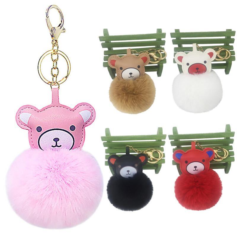 Fluffy Fake Rabbit Fur Ball Cute Pompom Keychain Bear Penguin Hippocampus Key  Chain Women Car Bag Pompon Key Ring Accessories Designer Keyrings Monkey  Fist ... 18604089f5
